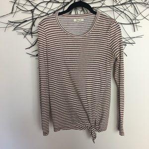 Stripe MADEWELL oversize long sleeve tie shirt X